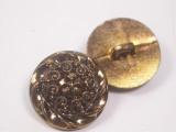 "Button 13/16"" (20mm)  Bronze Fancy Swirls  - Per Piece"