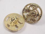 """Button 5/8"""" (15.87mm) Gold with Fancy Detail - Per Piece"""