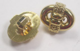 """Button 5/8"""" (15.87mm)  x 1/2"""" (13mm)Gold with Rope Detail - Per Piece"""