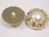 "Button 1"" (25mm)  Fancy with Pearly Dome  - Per Piece"