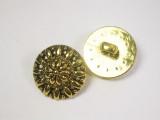 "Button 13/16"" (20mm)  Gold Fancy Flower Head  - Per Piece"