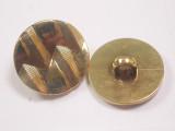 "Button 13/16"" (20mm)  Textured with Zig Zag  - Per Piece"