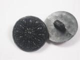 """Button 13/16"""" (20.6mm) Black Flower  - Per Piece"""