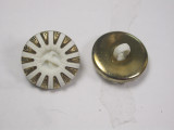 """Button 3/4"""" (19mm) Gold & White Rays - Per Piece"""