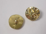 """Button 3/4"""" (19mm) Gold Wrinkle Effect - Per Piece"""