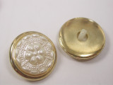 """Button 13/16"""" (20.6mm) Gold with Pearlized Flower Center  - Per Piece"""