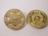 """Button 7/8"""" (22mm) Gold with Fancy Detail  - Per Piece"""
