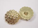 "Button 13/16"" (20.6mm) Gold Fancy Knot  - Per Piece"