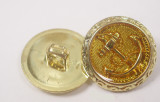 """Button 13/16"""" (20.6mm) Gold with Anchor  - Per Piece"""