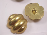 "Button 1"" (25mm) x 7/8""(22mm)  Gold Fancy  - Per Piece"