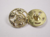 """Button 13/16"""" (20.6mm) Gold with Fancy Detail - Per Piece"""