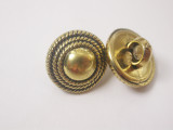 """Button 1/2"""" (13mm) Fancy Domed with Rope  - Per Piece"""