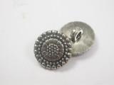 "Button 11/16"" (17.4mm) Silver Flower Head  - Per Piece"