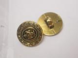 "Button 5/8"" (15.8mm) Gold Fancy Center  - Per Piece"