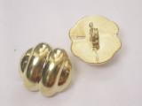 "Button 3/4"" (19mm) x 5/8""(15.8mm)  Gold Fancy  - Per Piece"