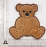 "Teddy Bear Sew On Applique 6"" high"