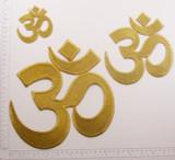 Hindu OM Symbol Metallic Gold  *Sizes*