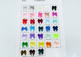 """Polyester Satin Ribbon Bows 1"""" *Colors* 1000 Piece Pack"""