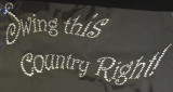 """Rhinestud Applique - """"Swing This Country Right!"""""""