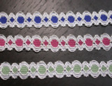 """Galloon Lace 5/8"""" (15.8mm) *Colors* 5 Yards"""