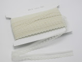 "Flat Lace 7/8"" (22mm) Ivory Floral  Medium 50 Yards"