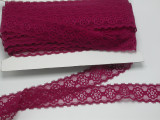 """Galloon Lace 1 3/8"""" (35mm) Wine 50 yards soft"""