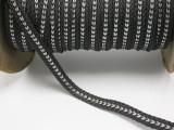 "Braid 1/2"" (12.5mm) Graphite Soft Black & Silver Priced Per Yard"