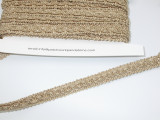 """Braid 3/8"""" (10mm) Fancy Tan Priced Per yard"""
