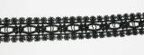 """Venise Insertion Lace 1 1/8"""" (28.5mm) Black Fine Quality Priced per Yard"""
