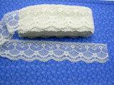 """Raschel Lace 2 1/2"""" (63.5MM) Ivory Floral 25 Yards"""