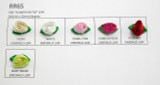 Polyester Satin Ribbon Barrel Roses *Colors* 20 Piece Pack. Emerald Leaf