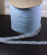 "5/8"" Blue Floral Lace Med/Soft Hand 100 Yard Bolt"