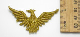 """Sew on Schiffi Embroidered Gold Eagle 2 1/2"""" x 1 1/2"""" - 12 Piece Pack"""