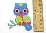 """Colorful Owl on Branch 2 7/8"""" high"""