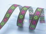 metallic flowers jacquard ribbon