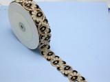 "Beaded Bollywood Sari Border Copper & Black Embroidered  1 5/8"" (41 mm) Per Meter"