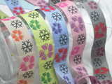 "Jacquard Ribbon 1"" (25mm) Snow Flower 9 Mtrs"