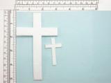 "Plain Cross 2"" Tall White"