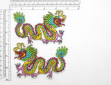 "Chinese Dragon Patch Left & Right 4 3/4"" x 3 1/8"""