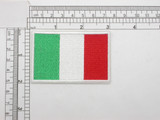 "Italy Flag Embroidered Iron On Patch Applique Italia  3"" x 2""  (76mm x 51mm) approx"