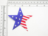 "Stars & Stripes Star American Flag USA Iron On Patch Applique     Fully Embroidered  Measures 3 1/4"" across by 3 1/4"" high"