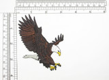 """Bald Eagle American - Iron On Patch Applique  Fully Embroidered   Measures 3"""" x 4"""" 76mm x 102mm"""