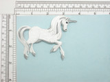 """Unicorn Iron on Applique  Fully embroidered  Size  3-3/8"""" x 4"""" (85mm x 102mm)"""