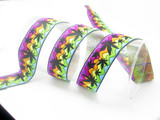 """Candy Weed Jacquard Ribbon 1 3/8"""" (33mm) Priced Per Yard     be sure to check out this ribbons partner 1"""" Candy Ripples"""