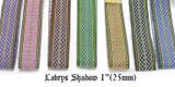 "Jacquard Ribbon 1"" (25mm) Labrys Shadow Priced Per Yard Color Options"
