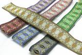 "Jacquard Ribbon 1 1/2"" (38mm) Labrys Priced Per Yard Color Options"