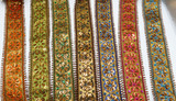"""Fancy Beaded Sari Saree Floral Bollywood Border Embroidered  2 1/2"""" (63mm)"""