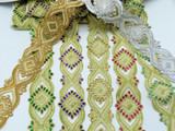 "Beaded Border 2 5/8"" (67mm) Sari Saree Bollywood Embroidered"
