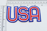 """USA Patriotic Patch 2 3/8"""" tall x 4 5/8""""  Fully Embroidered"""