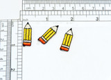 """Pencil Iron on Patch 3 Pack Fully Embroidered   Measures 1"""" high x 3/8"""" wide approximately"""